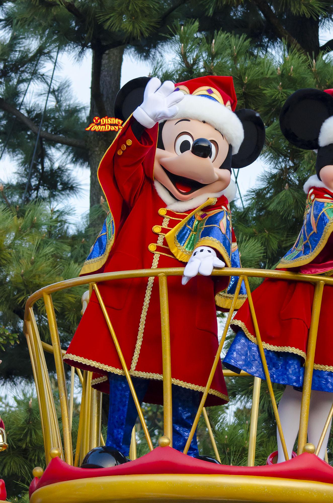 TDL クリスマスファンタジー ディズニーサンタヴィレッジパレード ミッキーマウス