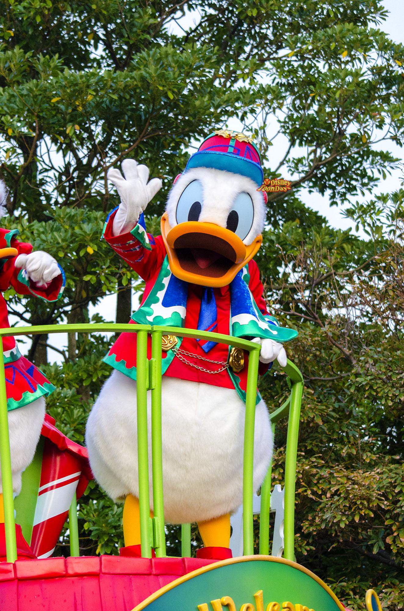 TDL クリスマス・ファンタジー ディズニーサンタヴィレッジパレード ドナルドダック