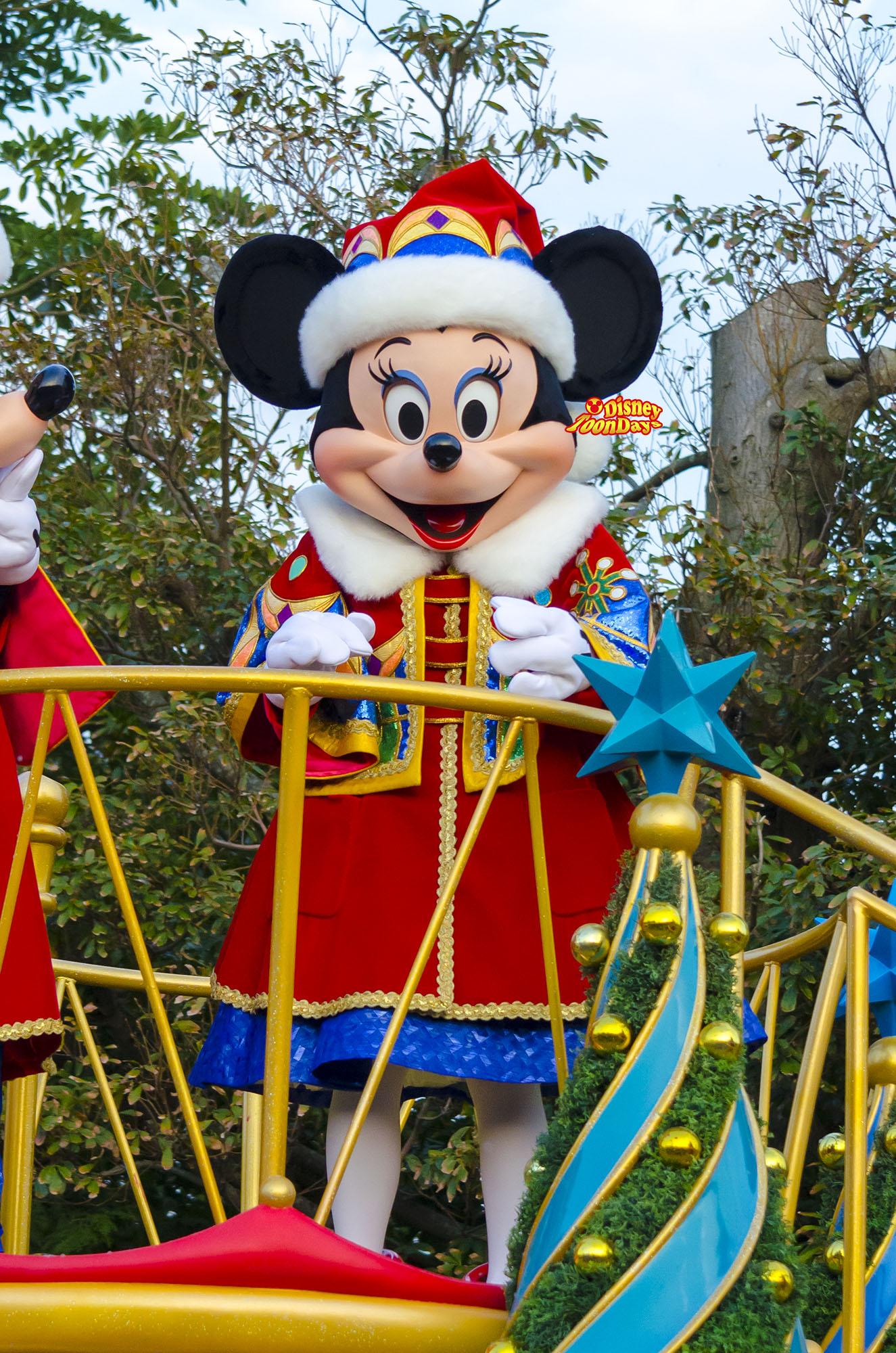 TDL クリスマスファンタジー ディズニーサンタヴィレッジパレード ミニーマウス