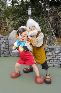 TDL ファンタジーランド グリーティング ピノキオ ゼペット