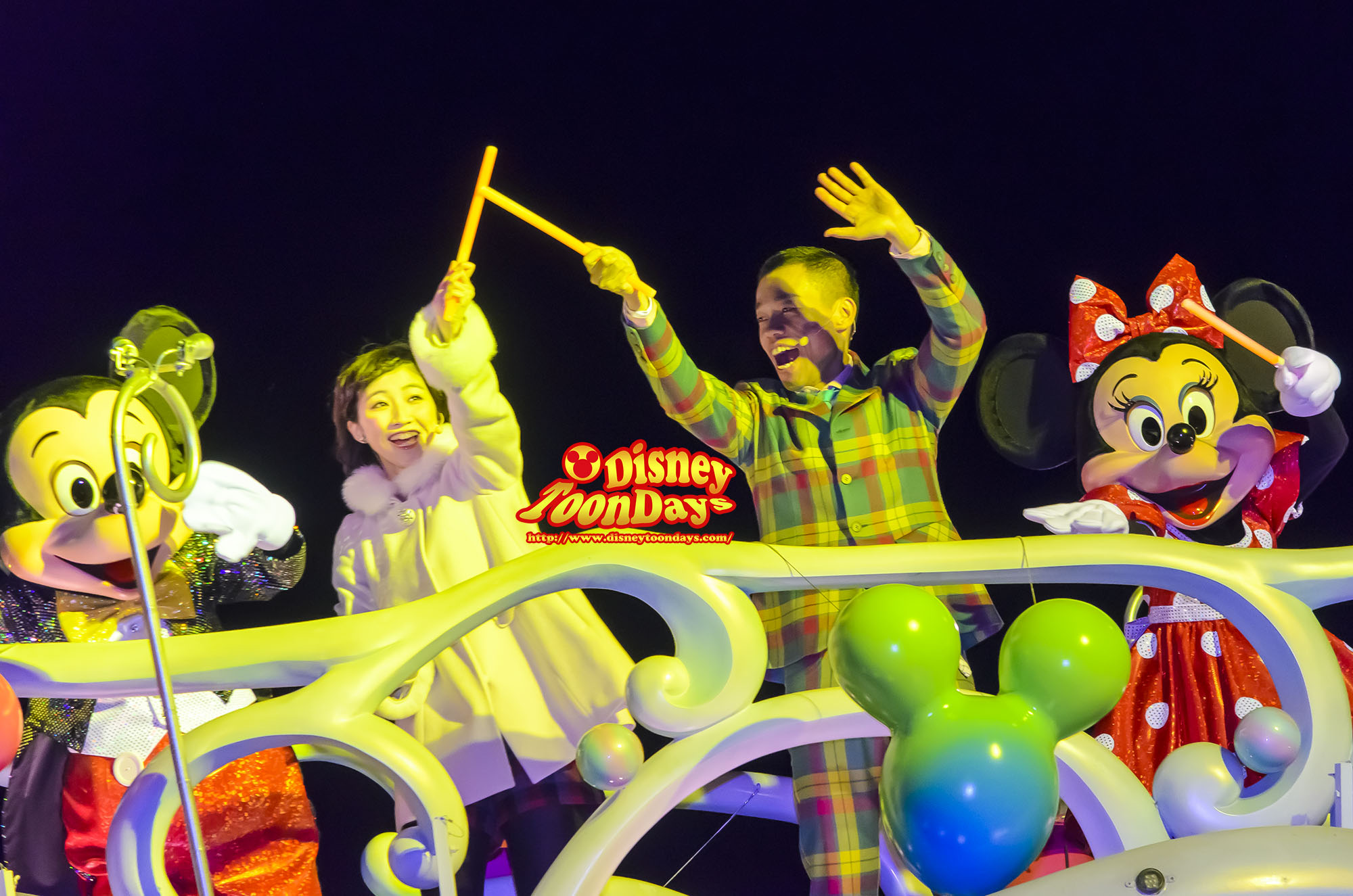 TDS ディズニーチャンネル プライベートイブニングパーティー スペシャルセレモニー ミッキーマウス ミニーマウス 倉益悠希 多田健二(COWCOW)