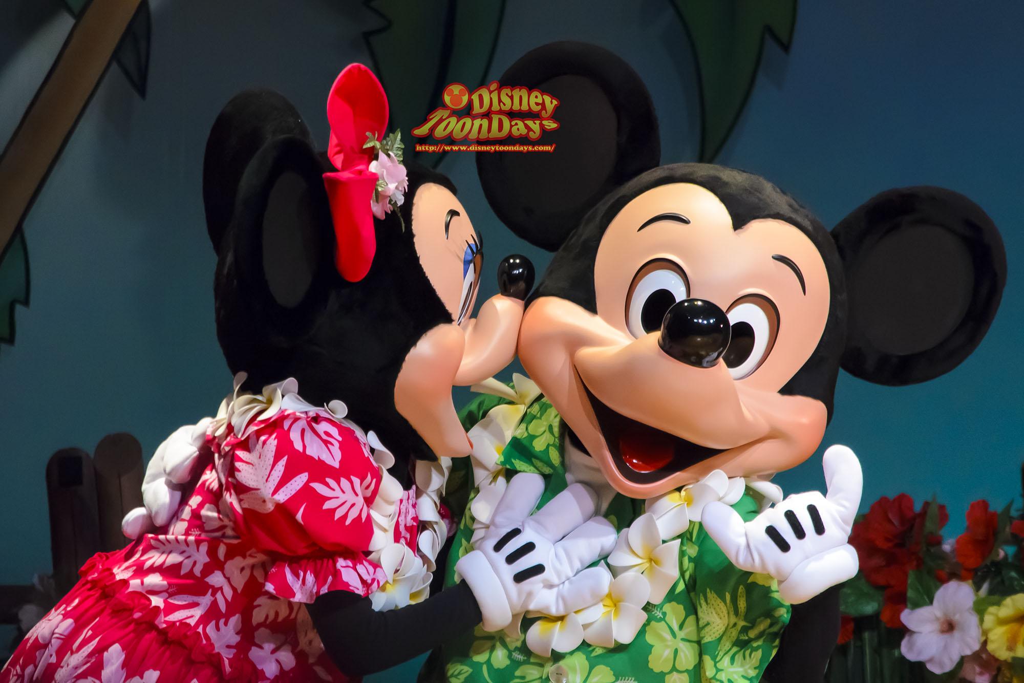 TDL アドベンチャーランド ポリネシアンテラスレストラン リロのルアウ&ファン ミッキーマウス ミニーマウス