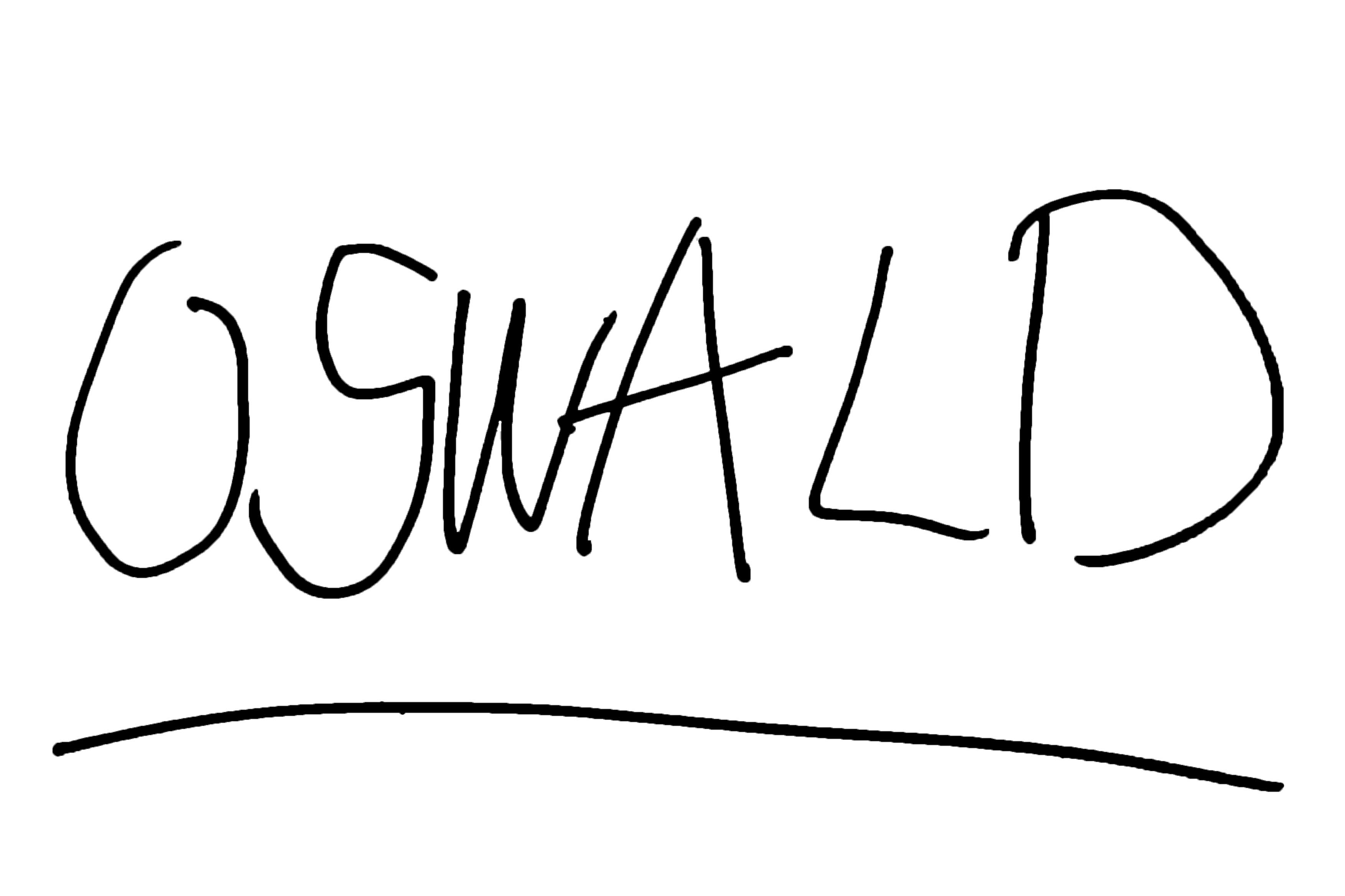 オズワルド・ザ・ラッキーラビット サイン