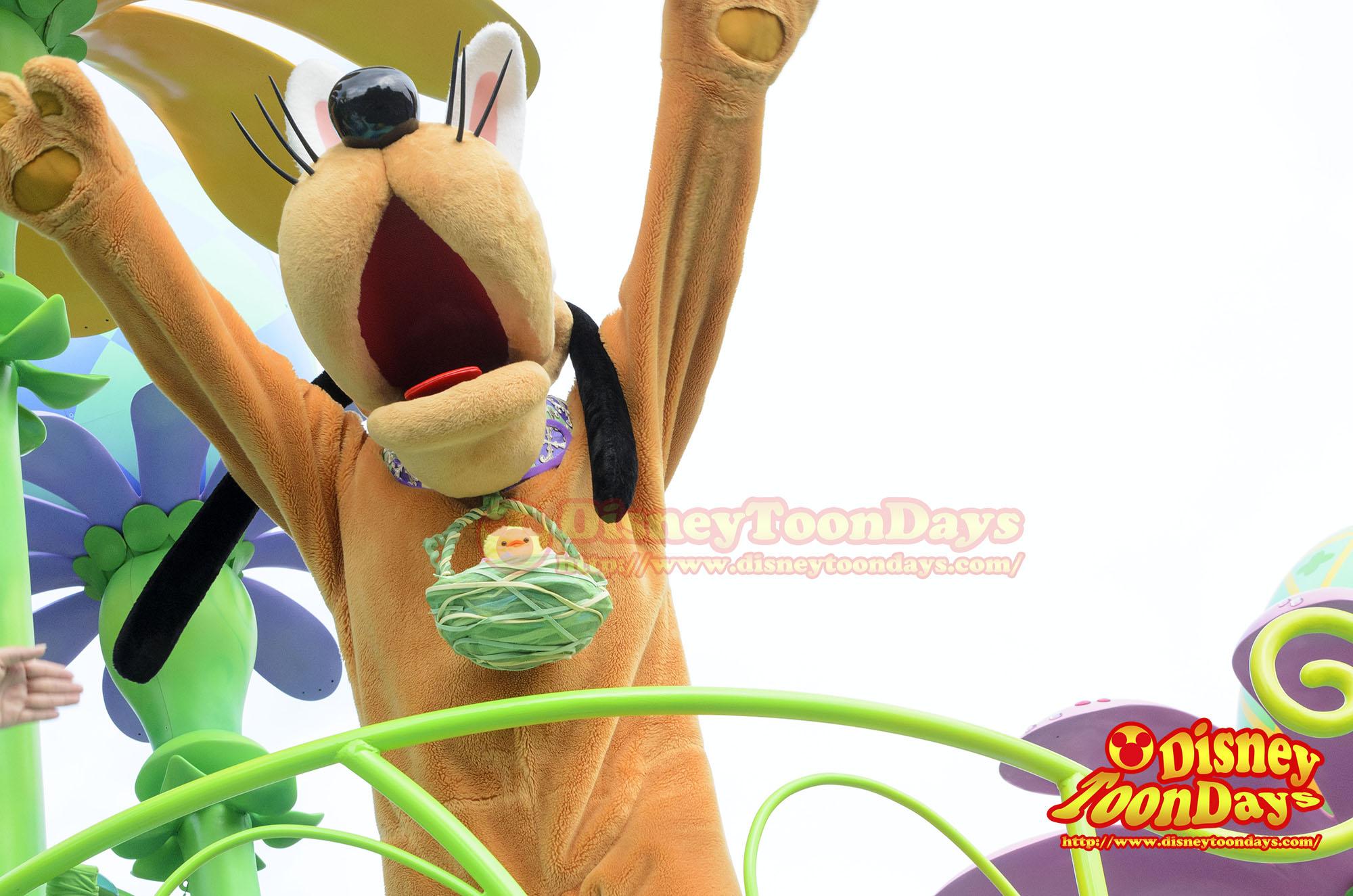 TDL ディズニー・イースター 2014 ヒッピティ・ホッピティ・スプリングタイム プルート